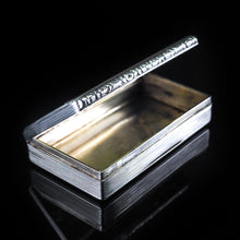 Load image into Gallery viewer, Antique English Solid Silver Table Snuff Box - Birmingham 1833 - Artisan Antiques