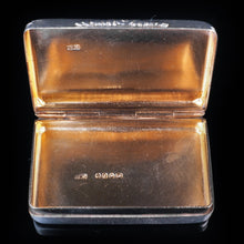 将图片加载到图库查看器中, Antique English Solid Silver & Gold Gilt Snuff Box - London 1841 - Artisan Antiques