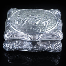 Load image into Gallery viewer, Antique German Silver Table Snuff Box Repousse c.1840 - Artisan Antiques