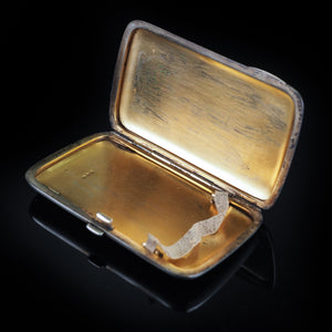 Antique Norwegian Blue Enamel Silver Cigarette Case - c.1890 David Andersen - Artisan Antiques