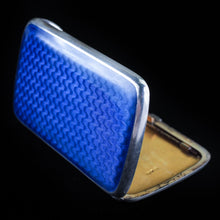 将图片加载到图库查看器中, Antique Norwegian Blue Enamel Silver Cigarette Case - c.1890 David Andersen - Artisan Antiques