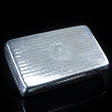 Load image into Gallery viewer, Antique English Solid Silver Snuff Box with Gilt Interior - London 1831 - Artisan Antiques