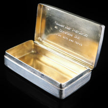 Load image into Gallery viewer, Antique English Solid Silver Historical Snuff Box - London 1845 - Artisan Antiques