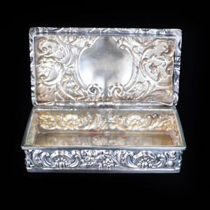 Antique Solid Silver German Snuff Box - 19th Century - Artisan Antiques