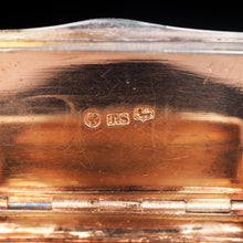 Load image into Gallery viewer, Antique English Victorian Solid Silver Snuff Box with Gold Gilt Interior - Birmingham 1838 - Artisan Antiques