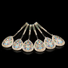 Load image into Gallery viewer, Antique Russian Silver Cloisonne Enamel Spoons | Set of 6 | c.1900 - Artisan Antiques