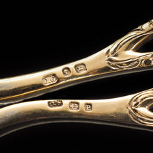 Load image into Gallery viewer, A Victorian Solid Silver Gilt Pair of Grape Scissors - John Gilbert 1864 - Artisan Antiques