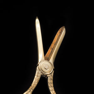 A Victorian Solid Silver Gilt Pair of Grape Scissors - John Gilbert 1864 - Artisan Antiques