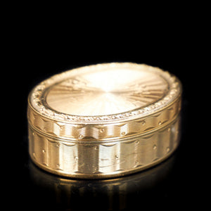 Antique French Silver Gilt Pill Box - c.1850 - Artisan Antiques