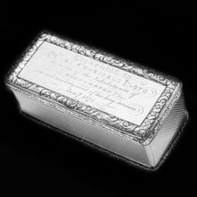 Charger l'image dans la galerie, Large Silver Presentation Snuff Box with Police Interest  - Thomas Edwards 1838 - Artisan Antiques