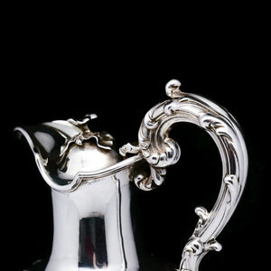 A Victorian Solid Silver Wine Ewer/Claret Jug - Edward, John & William Barnard 1843 - Artisan Antiques