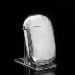 A Unique Victorian Solid Silver Cigarette Case - Hilliard & Thomason 1880 - Artisan Antiques