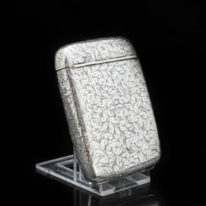 A Victorian Solid Silver Cigarette Case with Rare Opening - William Hair Haseler 1898 - Artisan Antiques