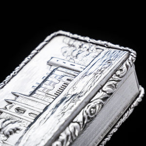 "A Solid Silver ""Castle Top"" Snuff Box of Newstead Abbey - Taylor & Perry 1835 - Artisan Antiques"