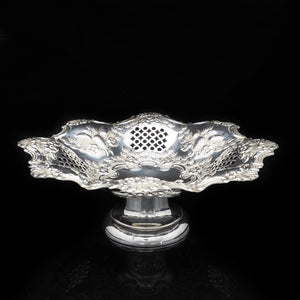 An Excellent Victorian Solid Silver Fruit Tazza/Bowl - Charles Westwood & Sons 1897 - Artisan Antiques