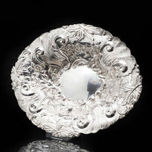Load image into Gallery viewer, An Ornate Victorian Solid Silver Chased Dish - Goldsmiths & Silversmiths Co 1896 - Artisan Antiques