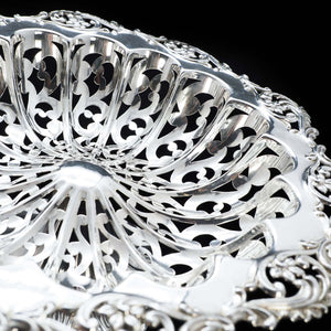 An Antique Solid Silver Pierced Tazza/Bowl Edwardian - Colen Hewer Cheshire 1906 - Artisan Antiques