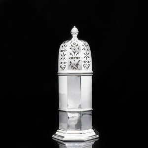 A Large Victorian Solid Silver Sugar Caster/Shaker - Samuel Walton Smith 1888 - Artisan Antiques