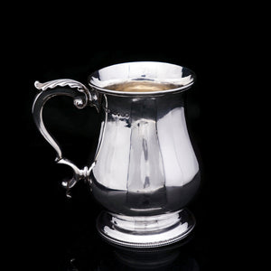 Antique Victorian Solid Silver Tankard Baluster Shaped - Henry William Curry 1870 - Artisan Antiques