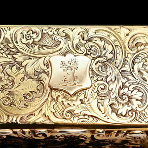 A Splendid Silver Gilt Snuff Box - Charles Rawlings & William Summers 1837 - Artisan Antiques