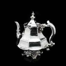 将图片加载到图库查看器中, A Victorian Solid Silver Teapot with Engraved Panels - John & George Angell 1846 - Artisan Antiques