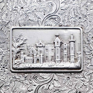 A Solid Silver 'Castle Top' Abbotsford House Card Case - Taylor & Perry 1835 - Artisan Antiques