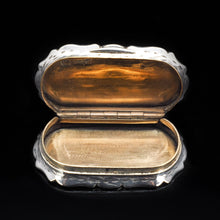 Load image into Gallery viewer, Victorian Solid Silver Snuff Box with Gilt Interior - Francis Clark 1847 - Artisan Antiques