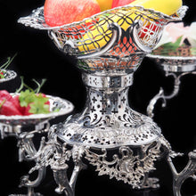 Load image into Gallery viewer, Magnificent Victorian Solid Silver Epergne by Carrington & Co - Royal Court Suppliers - Artisan Antiques