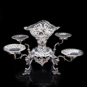 Magnificent Victorian Solid Silver Epergne by Carrington & Co - Royal Court Suppliers - Artisan Antiques