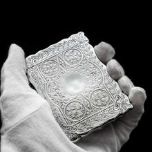 Load image into Gallery viewer, A Victorian Solid Silver Card Case with Floral Engravings - Hilliard & Thomason 1880 - Artisan Antiques