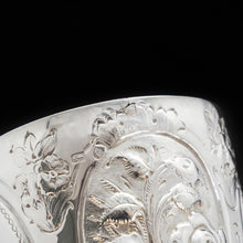 Load image into Gallery viewer, A Large Solid Silver Goblet with Victorian Chased Motifs - George Unite 1891 - Artisan Antiques