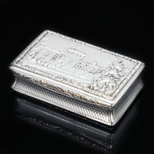 "Load image into Gallery viewer, RESERVED - A Georgian Windsor ""Castle Top"" Solid Silver Snuff Box - Taylor & Perry 1836 - Artisan Antiques"
