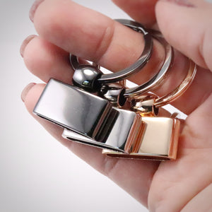 Luxe Key Fob Hardware with screws, 22mm opening
