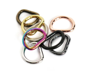 5/8 inch (16mm) Antique Brass Welded D-Ring