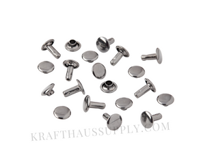Gunmetal Double Cap Rivets (8mm cap/8mm post)