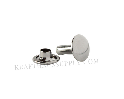 Gunmetal Double Cap Rivets (10mm cap/10mm post)