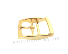 Load image into Gallery viewer, 1.5 inch (38mm) Yellow Gold Double Bar Pin Buckle