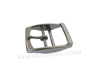1.5 inch (38mm) Gunmetal Double Bar Pin Buckle