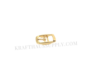 3/8 inch (10mm) Yellow Gold Double Bar Pin Buckle