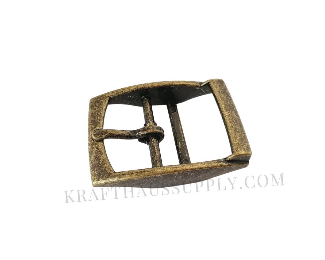 1.5 inch (38mm) Antique Brass Double Bar Pin Buckle