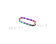 Load image into Gallery viewer, 1 inch (26mm) Rainbow Welded Oval Ring