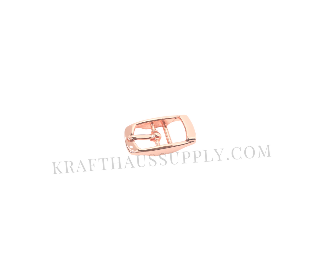 3/8 inch (10mm) Rose Gold Double Bar Pin Buckle