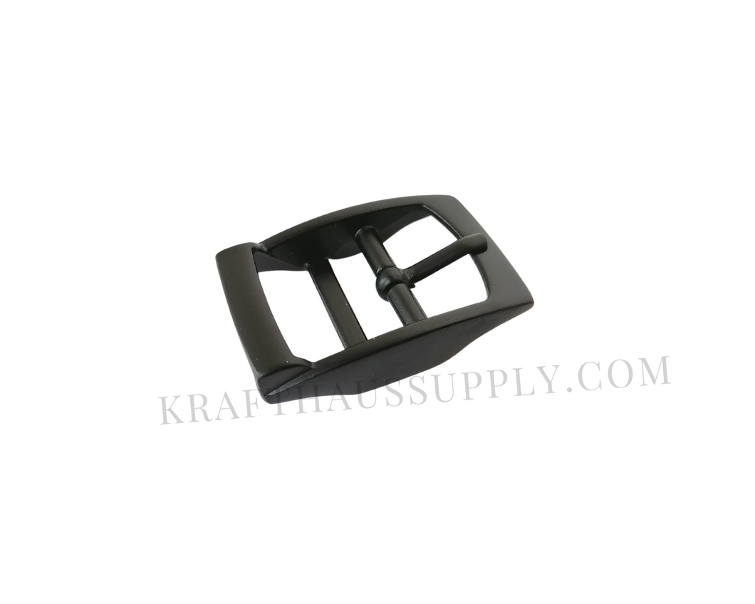 1 inch (26mm) Matte Black Double Bar Pin Buckle
