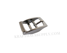 Load image into Gallery viewer, 1 inch (26mm) Gunmetal Double Bar Pin Buckle