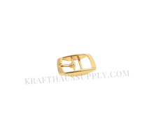 Load image into Gallery viewer, 5/8 inch (16mm) Yellow Gold Double Bar Pin Buckle