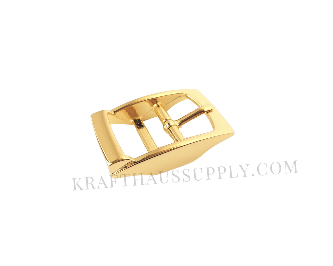 1 inch (26mm) Yellow Gold Double Bar Pin Buckle