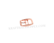 Load image into Gallery viewer, 5/8 inch (16mm) Rose Gold Double Bar Pin Buckle