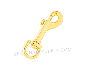 "1/2"" (12mm) Yellow Gold Bolt-Style Swivel Snaphook"