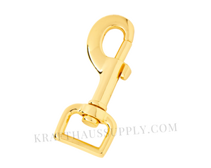 "3/4"" (20mm) Yellow Gold Bolt-style Swivel Snaphook"