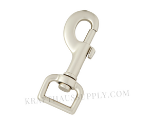 "3/4"" (20mm) Pearl Silver Bolt-style Swivel Snaphook"
